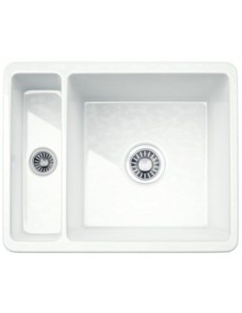 Kubus KBK 160 Ceramic 1.5 Bowl Undermount Kitchen Sink