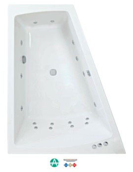 Figura Amanzonite 1700x1300mm Left Handed Whirpool Bath With Panel