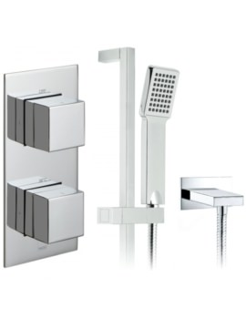 Tablet Notion Thermostatic Valve With Slide Rail Kit And Wall Outlet