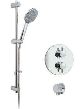 Celsius Round Thermostatic Shower Valve With Evolve Slide Rail Kit