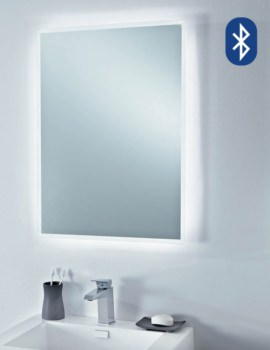 750mm Play Bluetooth Music Mirror With Heated Demister Pad