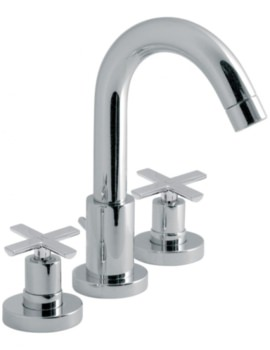 Tonic Deck Mounted 3 Hole Basin Mixer Tap