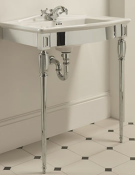 Troon Chrome Basin Stand And Westminster Vanity Basin