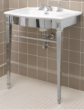 Adare Chrome Basin Stand And Westminster Vanity Basin 685mm