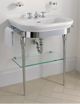 Carlyon Large Basin Stand With Chrome Legs And Basin 715mm