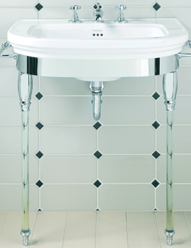 Carlyon Large Basin Stand With Glass Legs And Basin 715mm