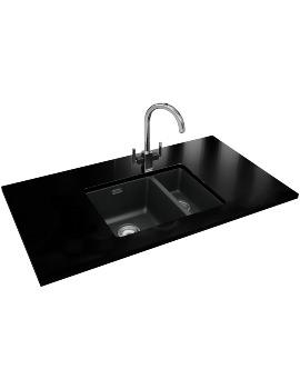 Franke Kubus Designer Pack KBG 160 Fragranite Onyx Sink And Tap