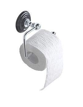 Oxford Black And Chrome Wall Mounted Toilet Roll Holder