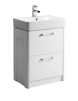 Q60 575mm Freestanding Vanity Unit And Ceramic Basin