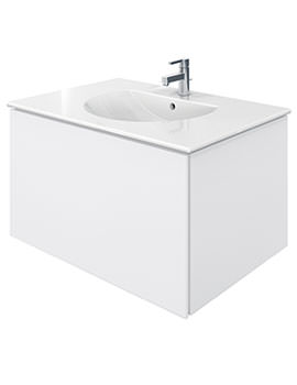 Delos 1 Compartment White Matt Unit With Darling New 830mm Basin