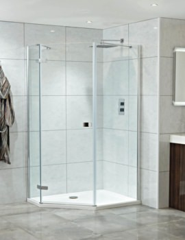 Idyllic Neo 1200mm x 900mm Left Hand Clean Glass Hinged Door