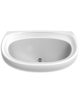 Sola Spectrum 600 x 480mm Washbasin With Back Outlet