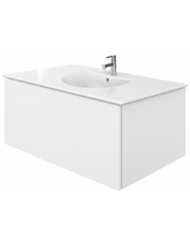 Delos 1 Compartment White Matt Unit With Darling New 1030mm Basin