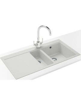 Franke Mythos Designer Pack MTG 651-100 Fragranite Polar White Sink And Tap