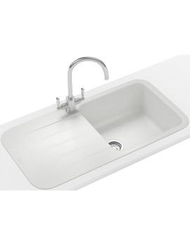 Pebel DP PBG 611-970 Fragranite Polar White Inset Sink And Tap