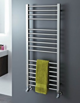 Phoenix Roscoe 500 x 1200mm Polished Stainless Steel Radiator