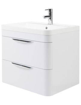 Parade 600mm Wall Hung Drawer Cabinet And Basin