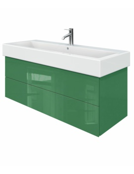 Duravit Delos 2 Drawers Jade High Gloss Unit With Vero 1200mm Basin