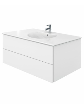 Delos 2 Drawers White Matt Unit With Darling New 1030mm Basin