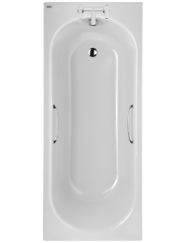 Opal 1700 x 700mm Plain 2 Tap Hole Acrylic Bath With Grips