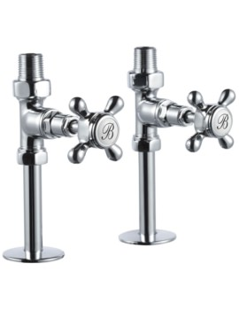 Chrome Straight Radiator Valves