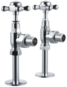 Chrome Angled Radiator Valves