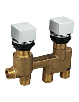 SQ Series Deck Mount Thermostatic Shower Valve With 2 Way Diverter