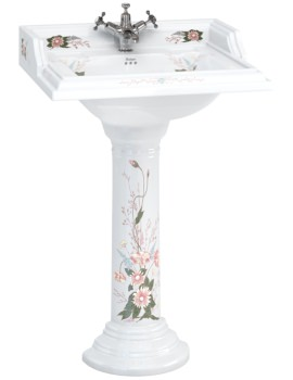 English Garden Classic 650mm Rectangular Basin And Pedestal