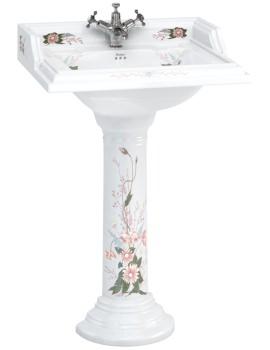 English Garden Classic 650mm Rectangular Basin And Pedestal