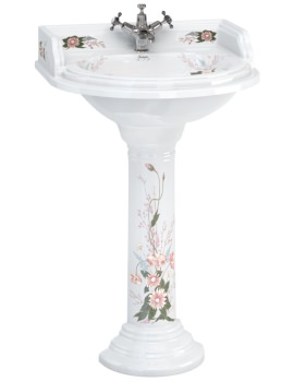 English Garden Classic 650mm Round Basin And Pedestal