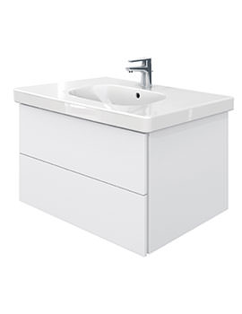 Delos 2 Drawers Unit With D-Code 850mm Basin