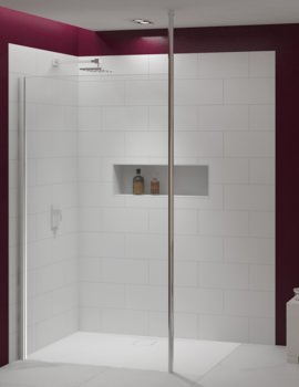 Merlyn 8 Series 700mm Showerwall With Vertical Post
