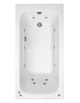 Crystal 1400 x 700mm Single Ended Whirlpool Bath