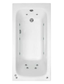Crystal 1400 x 700mm Single Ended Whirlpool Bath