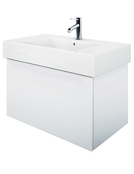 Delos 1 Compartment Terra White Matt Unit With Vero 850mm Basin