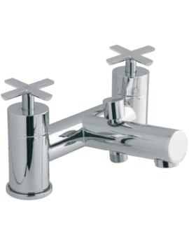 Tonic Deck Mounted 2 Hole Bath Shower Mixer Tap