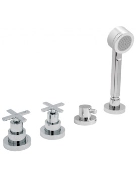 Tonic Deck Mounted 4 Hole Bath Shower Mixer Tap
