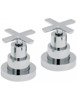Tonic Deck Mounted Pair Of Stop Valves 3/4 Inch