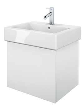 Delos 1 Compartment White Matt Unit With Vero 500mm Basin