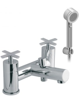 Tonic Deck Mounted 2 Hole Bath Shower Mixer Tap With Kit