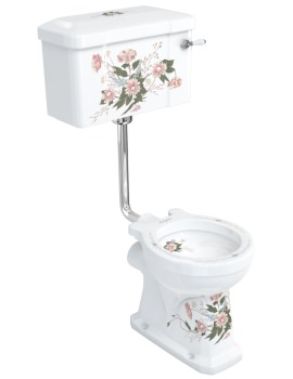 English Garden Low-Level Pan With Cistern And Flush Pipe Kit
