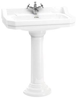 Edwardian 800mm Basin With Regal Round Pedestal