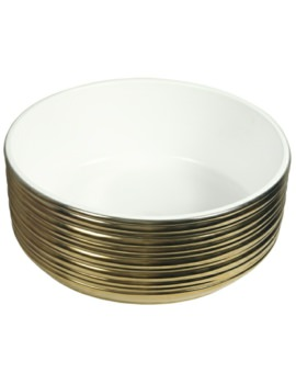 Beo Lavabo 375mm Countertop Basin Gold And White