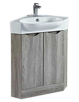Dakota 510mm Corner Vanity Unit And Basin Avola