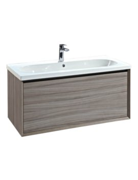Enzo 1010mm Nilo Wall Mounted Vanity Unit With Ceramic Basin