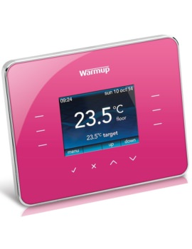 Warmup 3iE Programmable Deep Pink Finish Thermostat