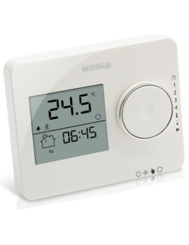 Warmup Tempo Porcelain White Programmable Digital Thermostat