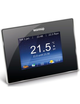Warmup 4iE Smart WiFi Onyx Black Finish Thermostat