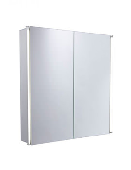 Sleek 600mm Double Door Mirror Cabinet With LED Lighting