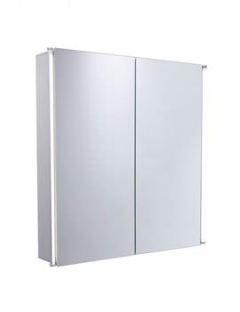 Sleek 600mm Double Door Mirror Cabinet With LED Lighting
